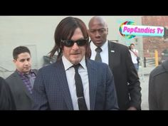 ▶ Norman Reedus shows off his big heart while greeting fans at Jimmy Kimmel Studio Hollywood - YouTube