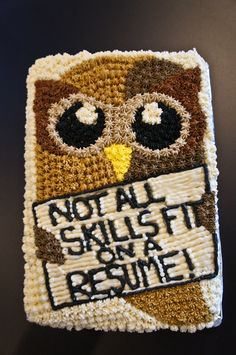 An awesome and absolutely delicious cake made by @Jacque Skaggs Warren Haynes because not all skills fit on a resume! #hootsuite #cake