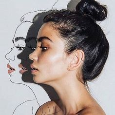 an idea: i could have a pencil portrait offset from a watercolour portrait. Creative Photography, Portrait Photography, Flash Photography, Inspiring Photography, Inspiring Art, Photography Tutorials, Beauty Photography, Digital Photography, Hipster Vintage