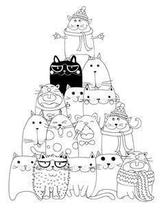 drawing to print pyramid cat coloring - Les Colos de kiki - - dessin à imprimer pyramide chat coloriage drawing to print pyramid cat coloring Cat Coloring Page, Coloring Book Pages, Printable Coloring Pages, Cat Colors, Cat Crafts, Cat Drawing, Digi Stamps, Doodle Art, Cat Art
