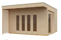 Gartenhaus Tokio 4 Shed, Outdoor Structures, Windows And Doors, Garden Cottage, Contemporary Design, Barns, Sheds