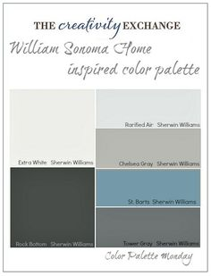 William-Sonoma-Home-Inspired-Paint-Color-Palette-Color-Palette-Monday1.jpg (2274×2984)