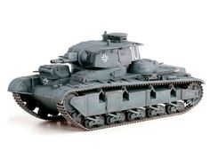 """Neubau Fahrzeug NR3.5 (1940) Diecast Model Tank by Dragon DR60597 This Neubau Fahrzeug NR3.5 (1940) Diecast Model Tank features working tracks, turret. It is made by Dragon and is 1:72 scale (approx. 11cm / 4.3in long).    Germany's first attempts at creating a heavy tank commenced in the early 1930s with a design known as the Neubaufahrzeug (""""New Construction Vehicle""""). It was not a success, however. Slow-moving and boasting multiple turrets, it was ill equipped for the type of rapid…"""