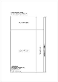 Idea para Bolso para bandera o shofar