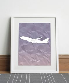 Boeing 747-400 Aircraft - Digital download by Sketch22uk on Etsy