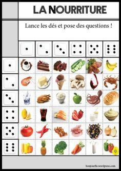 Jeux pour apprendre le français. Voilà un jeu pour apprendre la NOURRITURE. #éducation #jeux # nourriture