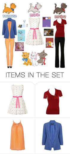 """""""The Aristocats - Toulouse, Marie, and Berlioz"""" by perrywings-warriorprincess ❤ liked on Polyvore featuring art"""