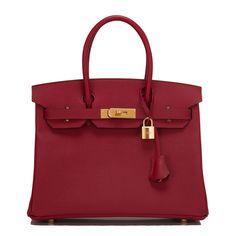 #Hermes #Birkin #Bag Rouge Grenat Epsom Gold Hardware