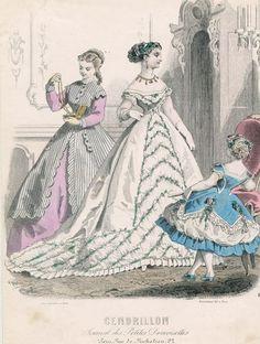 December fashions, 1866 France, Cendrillon