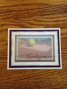 Softball coaches thank you card