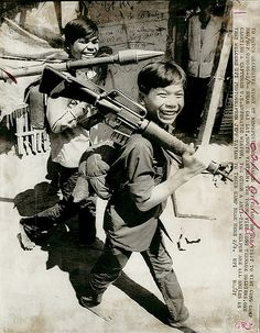 Viet Cong Soldier   1973 - Two teenage Viet Cong soldiers at camp near Cai Lay, one ...