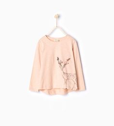 ZARA - KIDS - Sequinned deer top