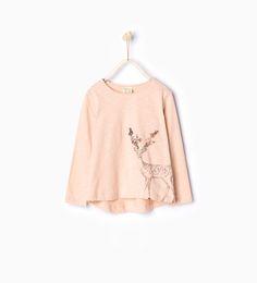 Image 1 of Sequinned deer top from Zara