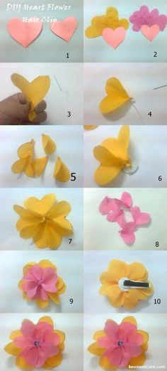 DIY Heart Petal Fabric Flower - Bead&Cord