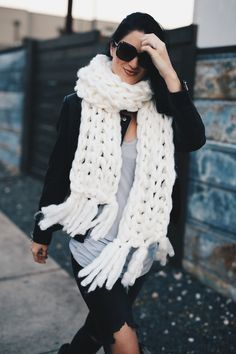 This chunky knit scarf has been a staple in my wardrobe as of late.