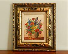 Vintage Oil Painting Original Boho Chic Oil by ModRendition