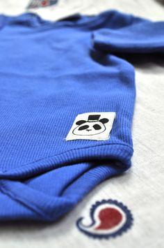 MIni Rodini Blue organic bodysuit - soft and great color