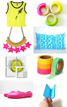 Neon and on... by Hanna Tabak on Etsy--Pinned with TreasuryPin.com