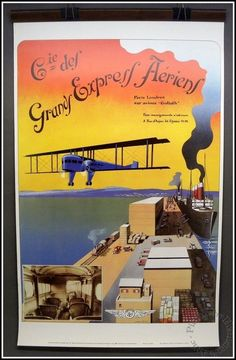 Farman Goliath Grands Express Aeriens 24 x 40 Air France Travel Poster No A 562