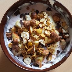 Another fitness food idea as a snack.  Quark some sweetener soya flakes oats few crushed hazelnuts and some chopped up apple   #fitfood #cleaneats #fitness #protein #healthy #fitfam #gym #eatclean #cleaneating #foodporn #fit #gains #nutrition #health #lowcarb #nuts #fitlife #healthyeating #healthyfood #healthyliving #gainz #recovery #fuel #macros #quark #gymlife #postworkoutmeal #musli #homemade #soya