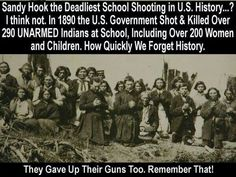 How soon everyone forgets huh??? So Damn sad, this is our HISTORY unfortunately. ~ Never Forget! ~ NATIVE...For Life!