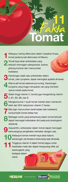 1Health | Infographics : 10 Fakta Tomat Get Healthy, Healthy Tips, Healthy Recipes, Food N, Food And Drink, Health Education, Natural Healing, Food Hacks, Good To Know