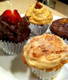 Myofusion Guilt Free Cupcakes {this is the brand of protein shakes I use so I might have to try these!}