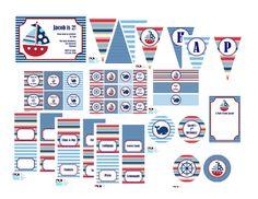 Nautical Birthday Party printables