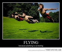 funny flying illusion photograph
