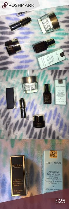 Estée Lauder Anti Aging bundle✨ Day wear moisturizer helps prevent and protect against aging spf 15 and best selling anti aging serum ANR and eye gel that helps with lines wrinkles and puffiness under the eye AND RE-NUTRIV ultimate lift rejuvenating oil‼️ Perfect for traveling or if you've been wanting to try out any of these products 😘 Sephora Makeup