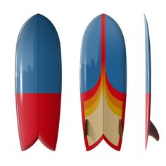 "Custom Order Fish Surfboard Shim-Fish ""Astro Pop""- Driftwood Caravan x Surfing With Friends"