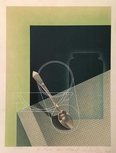 Victor VASARELY - Print-Multiple - Composition with a Spoon, 1929