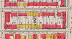 1907 Fire Insurance Map showing wooden houses and brownstones in Park Slope