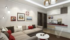 дизайн гостиной в 3-комнатной квартире П-44Т, Речной вокзал - 1