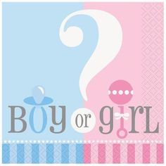 Gender Reveal Baby Shower Luncheon Napkins/Baby Shower Party Supplies/Tableware!