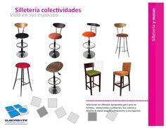 Mobiliario para hoteles -Sillas tipo bar