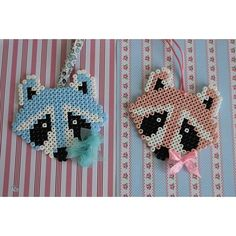 Raccoon hama beads by caticoud More