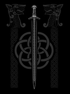 """""""Viking inspired tapestry with sword and knots""""  By: LarsGuitar82   Plunder more at: http://goldisblood.net/"""