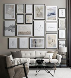 Inspiration Wand, Living Room Inspiration, Spacious Living Room, Living Room Modern, Modern Art Prints, Modern Artwork, Watercolor Scenery, Watercolour Paintings, Poster 70x100