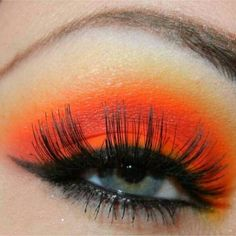 orange and eyeshadows