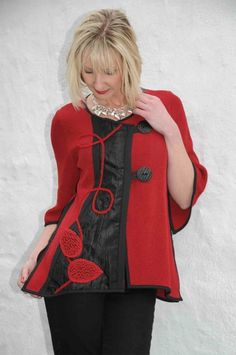 Tivoli appliqué cherry jacket. 3226