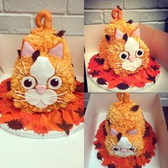 Birthday Cakes : Cat cake by Emily White. For more animal themed cake ideas, please visit www. The Craft Company, Birthday Wishes, Birthday Cakes, Cake Decorating, Decorating Ideas, Themed Cakes, Cake Pops, Pets, Halloween