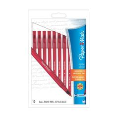 Paper Mate Write Bros Stick Medium Tip Ballpoint Red Ink Pens - 10 ea | Perfect for situations where large pen quantities are needed. myotcstore.com - Ezy Shopping, Low Prices & Fast Shipping.