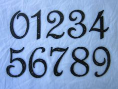 spanish revival hammered iron address numbers by Bushereironstudio, $17.00