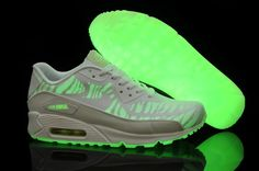 promo code aabd1 204b1 Nike Air Max 90 Prem Tape Glow in the Dark Femmes chaussures de course blanc