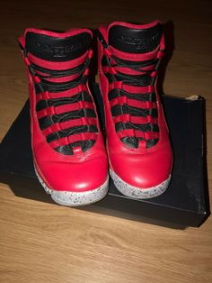 70cfbf87abcb Authentic in its original box Air Jordan 10 Retro (BG) Bulls over Broadway  Color Gym Red Black-Wolf Grey Size