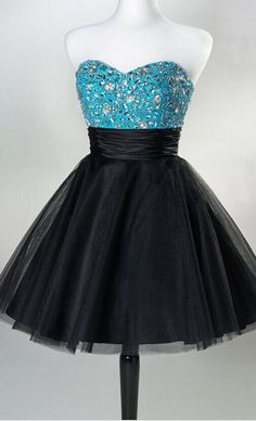 #black #tulle #short #shortpromdress #homecomingdress #cocktaildresses…