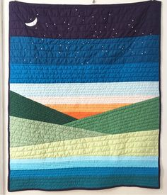 Amazing patchwork quilts - look at our guide for additional tips and hints! Boy Quilts, Mini Quilts, Strip Quilts, History Of Quilting, Landscape Art Quilts, Quilt Modernen, Nancy Zieman, Patchwork Quilting, Quilting Fabric