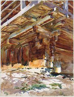 Abriès- John Singer Sargent, watercolor