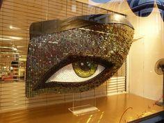 Window Visual Merchandising | VM | Window Display | shop window | Charlotte Tilbury's Make-up House of Rock 'N' Kohl at Selfridges